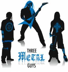 heavy-metal silhouettes vector image