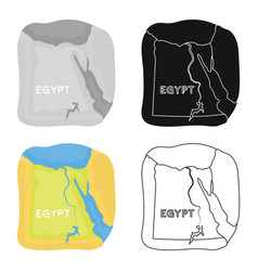 territory of egypt icon in cartoon style isolated vector image vector image