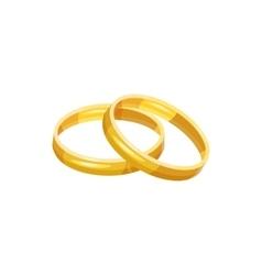 Wedding rings icon cartoon style vector image