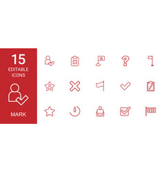 15 mark icons vector