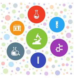 7 scientific icons vector