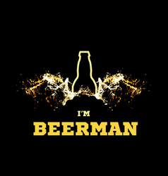 A beerman with beer wings vector