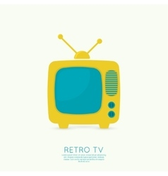 Abstract background with old TV and antenna vector image