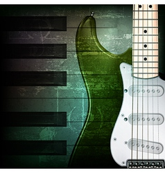 Abstract dark green grunge background with vector