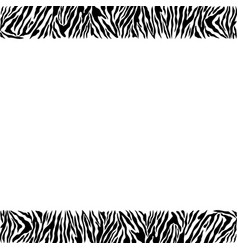 Abstract geometric frame on skin a tiger vector