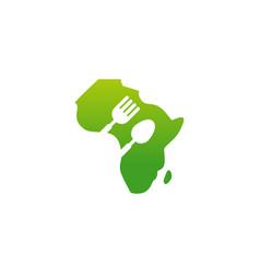 African food logo template vector