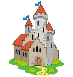 ancient medieval castle vector image