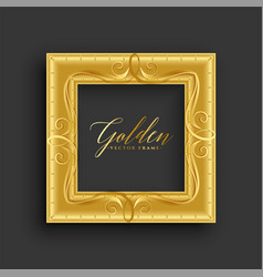 Antique vintage golden frame design vector