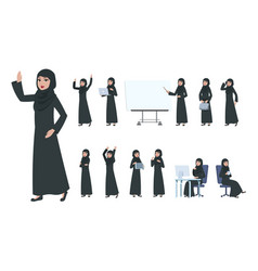 arab businesswoman saudi muslim business woman vector image