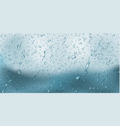 background with drops and streaks water vector image