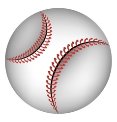 Baseball ball isolated icon over white background vector