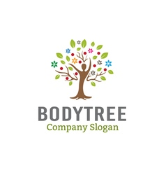 Body Tree Leaves Design vector image