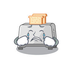 Bread toaster cartoon character concept with a vector