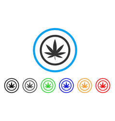 Cannabis rounded icon vector