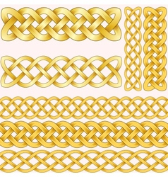 Celtic braids set with seamless patterns for vector