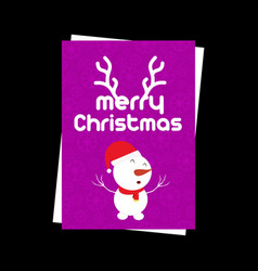 christmas card with snow flakes pattern and vector image