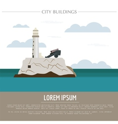 City buildings graphic template Cuba vector image