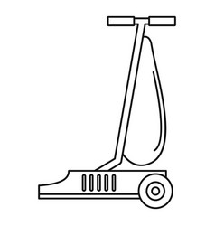 commercial vacuum cleaner icon outline style vector image