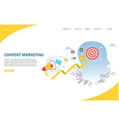 content marketing website landing page vector image
