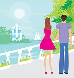 Couple on tropical vector