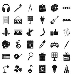 Creative business icons set simple style vector