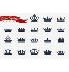 crown symbols king queen crowns monarch imperial vector image