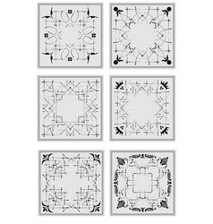 Decorative finishing ceramic tiles vector