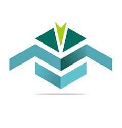 Design element arrow letter m icon symbol vector