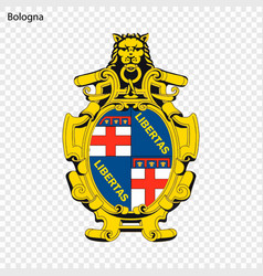 emblem of bologna city of italy vector image