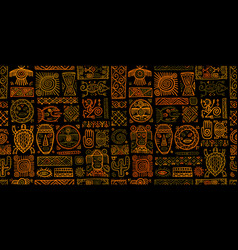 Ethnic mexican decor handmade seamless pattern vector