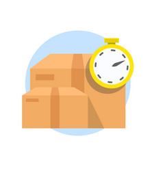 fast delivery service shipping boxes and vector image
