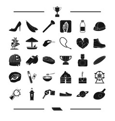 Food make-up entertainment and other web icon in vector