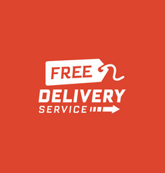 free delivery service on red background vector image