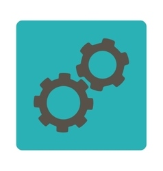 Gears Icon from Commerce Buttons OverColor Set vector