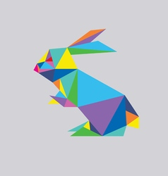 Geometric Rabbit vector image