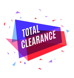 Geometrical colorful banner total clearance vector