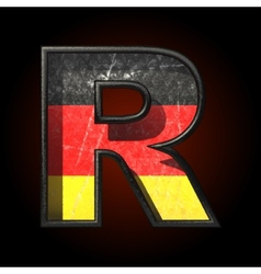 Germany cutted figure r vector