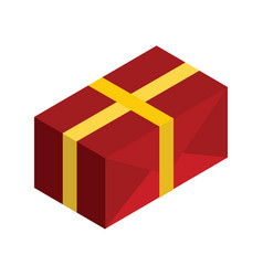 Gift box 3d isometric isolated cardboard boxes vector