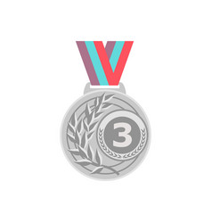 gold medal golden 1st place badge sport vector image