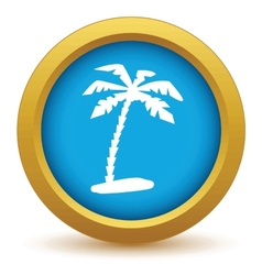 Gold travel icon vector image