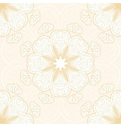 Hand drawn lace seamless pattern vector image