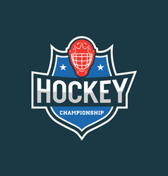 Hockey logo sport emblem vector