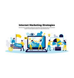 internet marketing poster vector image