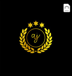 Luxury aj initial logo or symbol business company vector