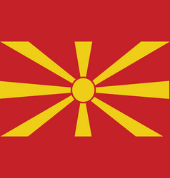 Macedonia flag for independence day and vector