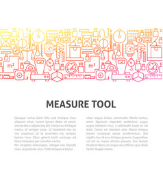 Measure tool line template vector
