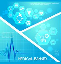 Medical care blue digital composition vector