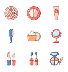 medicine skin icons set flat style vector image