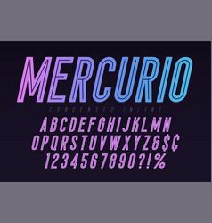 mercurio inline font typeface alphabet condensed vector image