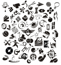 mix symbols vector image